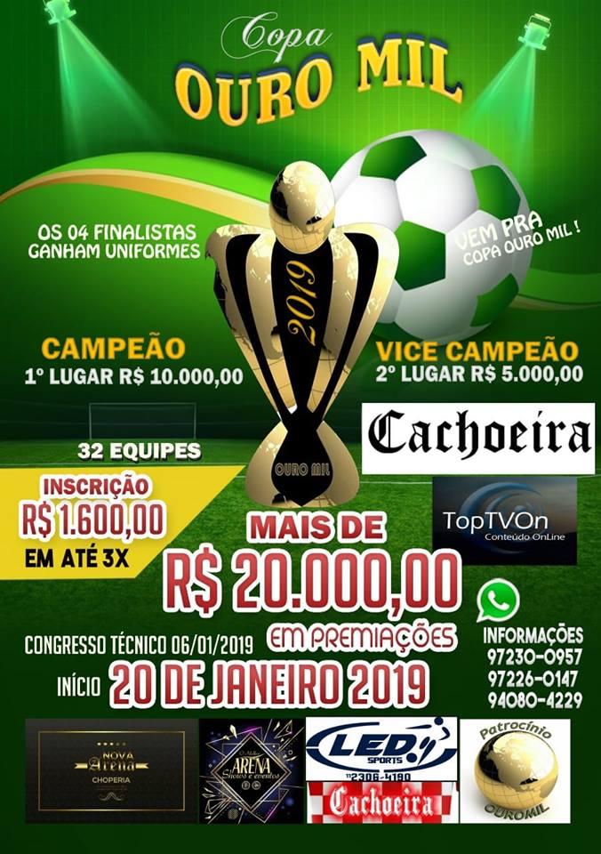 Copa Ouro Mil, uma copa inédita na nossa região. Entre em contato com nossos representantes venha participar