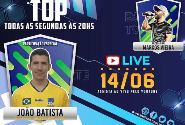 Podcast Esporte Top recebe o Atleta da seleção brasileira de surdos, João Batista